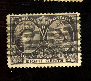 Canada #56 Used FVF 2 Paper HRs Cat$65