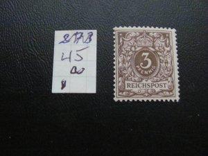 GERMANY 1889 HINGED  MI.NR. 45a NUMERAL