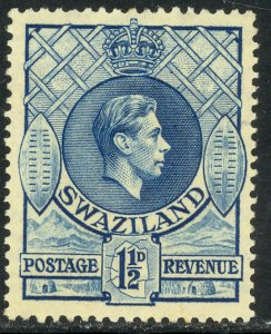 SWAZILAND 1938 KGVI 1 1/2d Portrait Issue Sc 29 MH