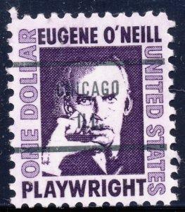 Chicago IL, 1294-71 Bureau Precancel, $1 O'Neill