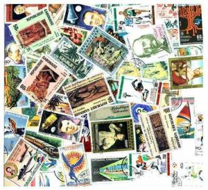 Gabon Stamp Collection  - 50 Different Stamps