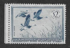 RW22 Used, Federal Duck Stamp, scv: $20, FREE INSURED SHIPPING