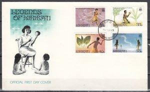 Kiribati, Scott cat. 464-467. Legends issue. First day cover.
