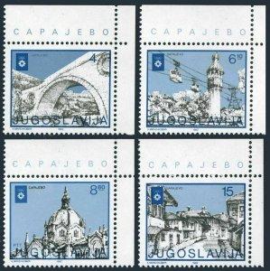 Yugoslavia 260-261,CTO.Michel 570-571. Ski Championships,Planica 1949.Ski jump.