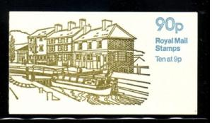 Great Britain Sc BK 393 10x MH67 in cpl booklet mint NH Stoke Bruerne cover