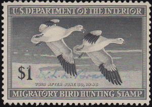 United States Scott RW14 Used.