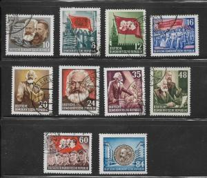 DDR Used* 137 / 148 Communist Leaders (148 is MNH)
