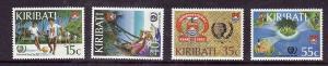 Kiribati-Sc#460-3-Unused NH set-International Youth Year-1985-