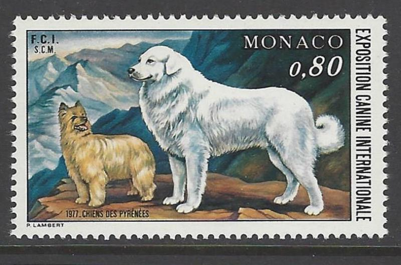 Monaco 1977  Mountain Dog VF MNH (1059)