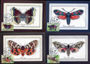 Belarus. 2016. Butterflies (Mint) Set of 4 Maxi Cards