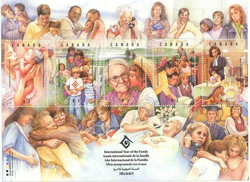 Canada - 1994 Intl. Year of the Family Sheet VF-NH #1523