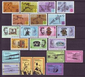 J21923 Jlstamps 3 dif 1975-8 grenada grenadines sets mnh #101-7,205-11,282-8