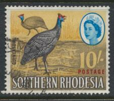Southern Rhodesia  SG 104 SC# 107  Guinea Fowl Used spacefiller with creases ...