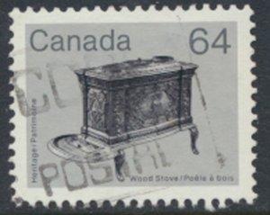 Canada  SG 1067 Used Woodstove Hertige    SC# 932   see scan