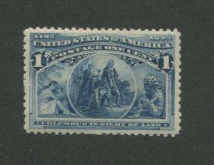 1893 United States Postage Stamp #230 Mint Never Hinged VF Original Gum