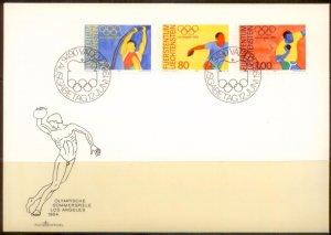 Liechtenstein FDC 1984 SC# 784-6 L189