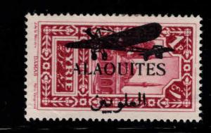 Alaouites Scott C18 MH* 1929 Airmail overprint stamp corner left bottom left