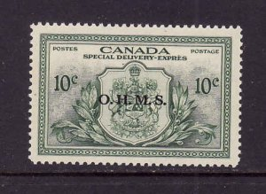 Canada-Sc#EO1- id1168-unused LH 10c green Special Delivery Official OHMS-og-19