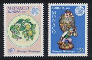 Monaco Europa Monegasque Ceramics 2v 1976 MNH SG#1251-1252