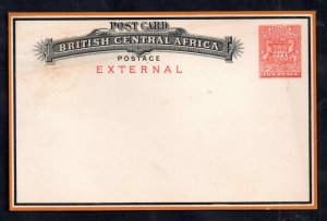 British Central Africa 2d External Postcard unused H&G #5 WS14949
