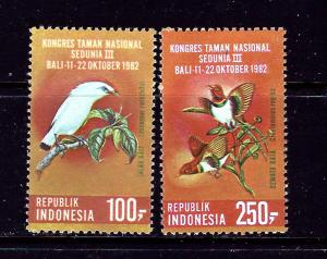 Indonesia 1180-81 MNH 1982 Birds