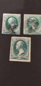 US #147 Used Lot of 3