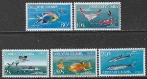 Colobimbia 760-61, C481-83 Fish