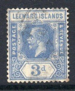 Leeward Islands 1921 KGV 3d deep ultramarine wmk MSCA SG 68a used CV £60
