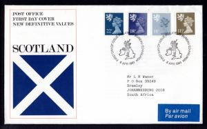 Great Britain Scotland SMH16,24,33,41 Typed FDC