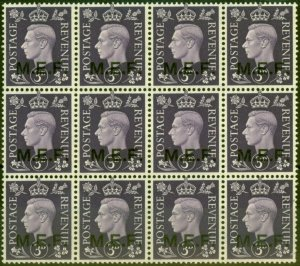 Middle East Forces 1942 3d Violet SGM4 Very Fine MNH Block of 12