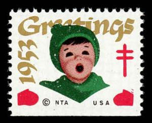 WX Christmas Seal Mint (NH) 1953