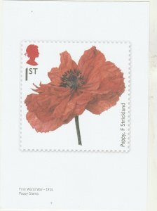 2014  LEST WE FORGET  PRINT ISSUED BY POST OFFICE