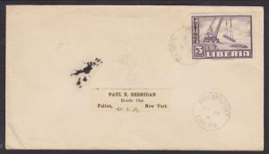 Liberia Sc 299 on 1952 Cover to New York Stamp Dealer