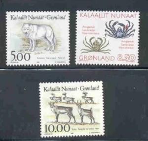 Greenland Sc 262-4 1993 Wildlife stamps mint NH