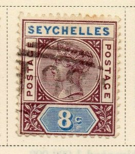 Seychelles 1890 Early Issue Fine Used 8c. 326857