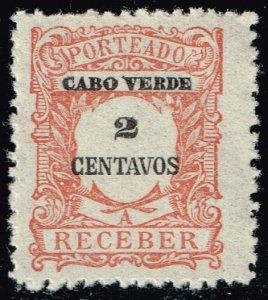 Cape Verde #J23 Postage Due; Unused (3Stars)