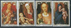 Cook Islands 1988 Christmas Paintings 4 Stamp Set Scott 1002-5  3L-017