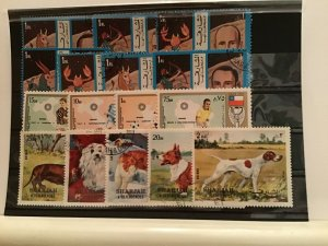 Sharjah Zodiac, Football and Dogs  stamps R21756