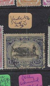 MALAYA  KEDAH  (PP2901B)   12C  COW  SG 58   VFU