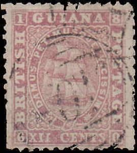 British Guiana #34, Incomplete Set, Used