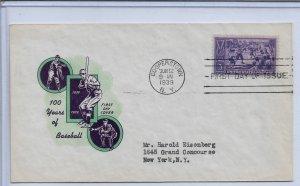 US 1939 Cachet FDC Sports Baseball Centennial ,N.Y.Cancellation,VF-XF !!