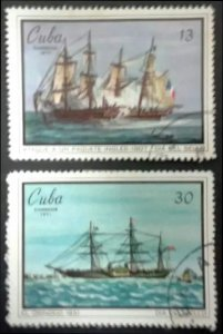 CUBA Sc# 1616-1617  STAMP DAY Philately collecting  CPL SET of 2  1971  used cto