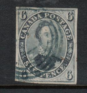 Canada #5 Used Fine - Very Fine With Light 4 Ring Cancel **With Certificate**