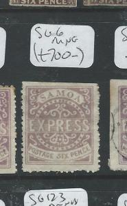 SAMOA (P1306B) EXPRESS ALL CHECKED BY LATE JACK HUGHES 6D  SG 6  MNG