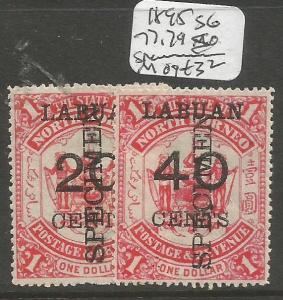 Labuan 1895 SG 77, 79s Specimen MOG (3clm)