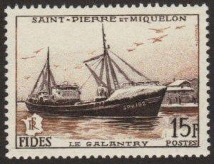 St Pierre et Miquelon #350 MNH boat