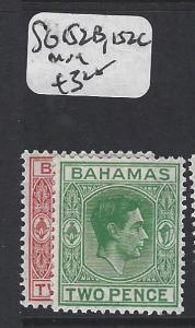 BAHAMAS (P0906B) KGVI  2D    SG 152B, 152C      MOG