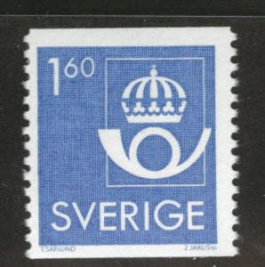 SWEDEN Scott 1439 MNH** 1983 1.6Kr coil stamp CV$0.75