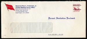 U.S. #1900a Misperf on Cover From General Paul L. Freeman Jr. U.S. Army (Ret.)