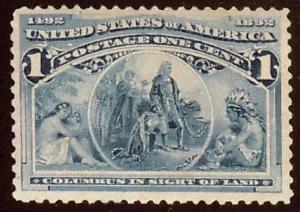 United States Scott 230 Unused with disturbed gum.